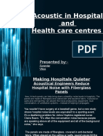 Acoustics in Healthcare Environment