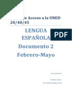 Curso Lengua Mayores de 25 febrero/mayo