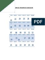 Calendario Del Programa de Segregacion