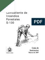 Combatiente de Incendios Forestales Manual Instructor