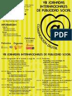 Programa VIII Jornadas Internacionales de Publicidad Social