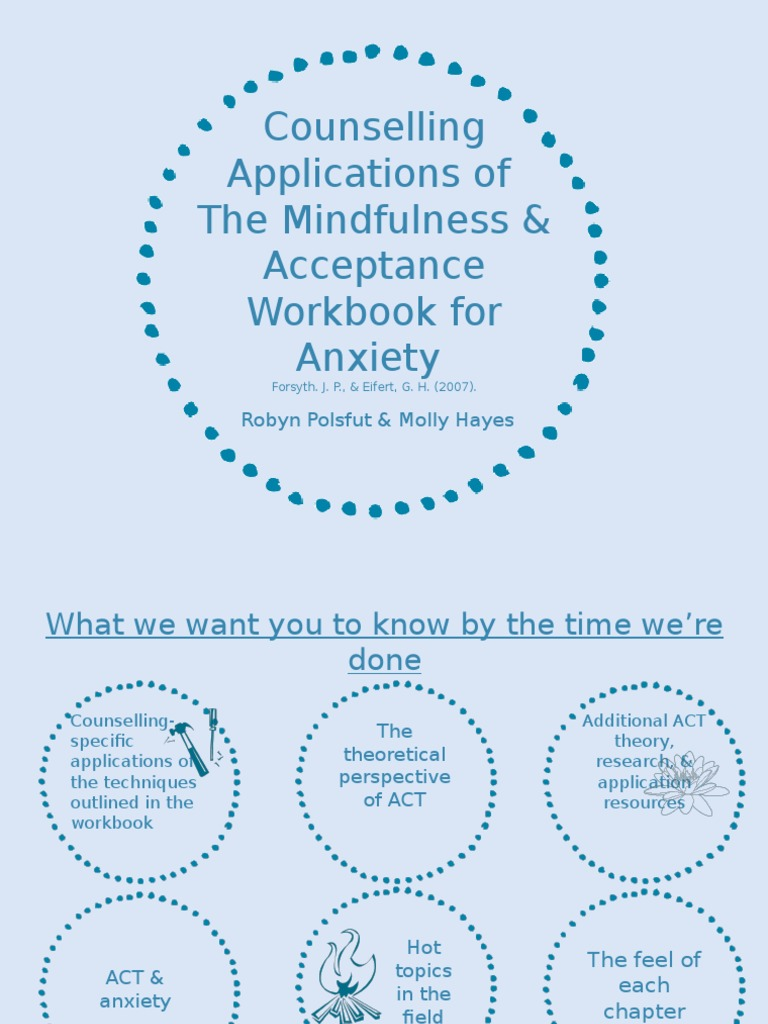 Workbooks the anxiety and phobia workbook 5th edition : the mindfulness acceptance workbook for anxiety - robyn polsfut ...