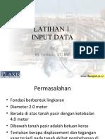 Latihan 1 Plaxis-Input Data