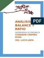 analisis de balance y ratio