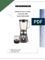 Manual Blender OMX IR 1000