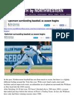 Max Goodman North by Northwestern 2_25 Optimism Surrounding Baseball