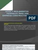 Leyes y Reglamentos Federales Para Una Empresa Constructora