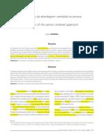 Revisando as fases da abordagem centrada na pessoa