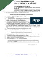 Bases Generales y Específicas de Deportes Recepción 1er. Año 2016
