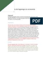 El Método de Lagrange en Economía