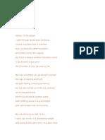 Poem in English