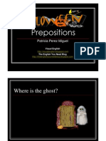 English - Prepositions - Halloween