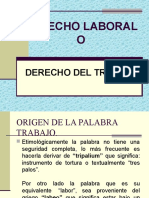 Derecho Laboral Introduccion
