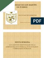 SEMANA 6 - AGENTES INDIVIDUALES DE LA ADM PUB- FUNCIONARIOS Y EMPLEADOS PUBLICOS (1).pdf