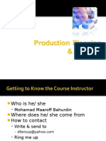 Production Control & Planning