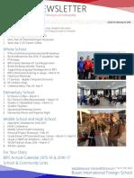 BIFS Newsletter, 2016-02-26 (English)
