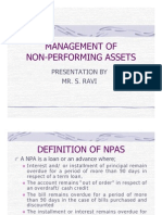 Management of Non Performing Asstes