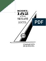 Cessna Skylane 182 POH - 1975