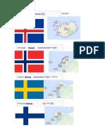 Bandera y Mapa Paises Europa