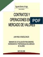 Contratos y Operaciones en El Mercado de Valores 2011