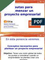 8-Pautas para comenzar un proyecto empresarial
