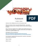 Walking Dead Play test Rulebook