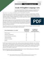 STAR English-LanguageArts Grade10 2009