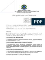 EDITAL 015-2016 Submissão Propostas de Monitoria 2016-1