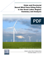 Wind Farm Policy in the Great Lakes