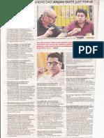 Neel Dutta Interviews Dad Anjan Dutta on Byomkesh Bakshi- Film by Kaustav Ray, Owner at RP Techvision