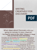 Writing Creatively for Discovery