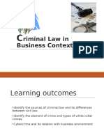Criminal Law in Business Context
