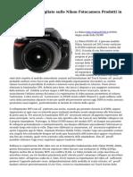 Informazioni dettagliate sulle Nikon Fotocamera Prodotti in Step by Step Order