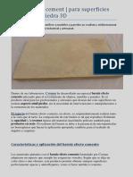 Barniz efecto cemento | Barnices especiales