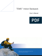 TEMS Indoor Backpack User's Manual