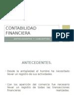Contabilidad Financiera, Antecedentes y Concepto