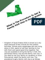 Family Visit Visa In Saudi Arabia