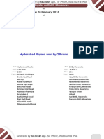 Match 18 - Hyderabad Royals -BHEL Mavericks