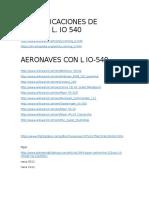 Aplicacion Aeronaves Lycoming IO-540