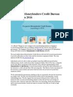 Borrowers Credit Worth