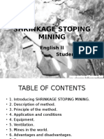 Shrinkage Stoping Mining