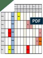 Schedule March