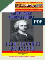 Libro No. 673. Discurso Sobre Economia Politica. Rousseau%2C Jean-Jacques. Colección E.O. Marzo 29 de 2014.