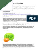 Menggantikan Design SMS di Android