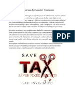 Ten Tax Savings Options for Salaried Employees