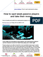 PKR _ How to Spot Weak-passive Players and Take Their Money