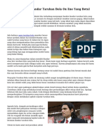 Trik Menyeleksi Bandar Taruhan Bola On line Yang Betul