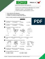 Subiect Si Barem LimbaRomana EtapaI ClasaI 14-15
