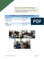 Sensors and Transducers QA