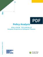 Balkan Triangle – European Perspective as Pythagoras Theorem